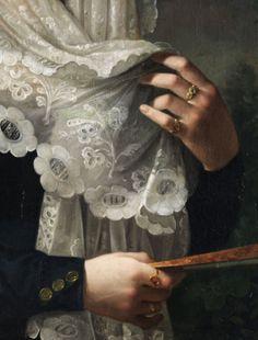 Lost and found edges Vicente Lopez y Portaña, Doña Gertrudis de Compte y de Bruga (detail) c.1829-1832