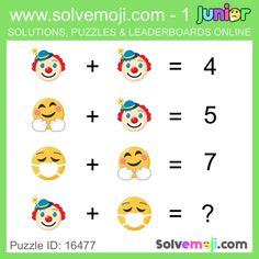 Solvemoji - Free teaching resources - Emoji math puzzle, great as a primary math starter, or to give your brain an emoji game workout. Math Logic Puzzles, Math Quizzes, Math Games, Maths Starters, Order Of Operations, Primary Maths, Free Teaching Resources, Picture Puzzles, Simple Math
