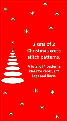 2 Sets of 2 Christmas cross stitch patterns. by crossstitchtheline