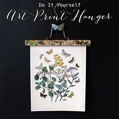 DIY Art Print Hanger - with Butterflies! - The Graphics Fairy