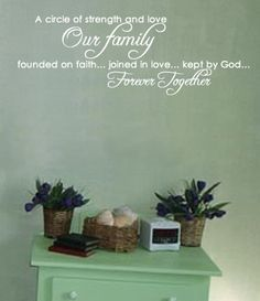 Wall Decal Family Religious Inspirational Quote by whimsydecal, $57.00