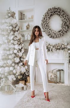 Classy Dress, Classy Outfits, Stylish Outfits, Formal Outfits, Classy Clothes, Office Outfits, Mode Outfits, Fashion Outfits, White Outfits For Women