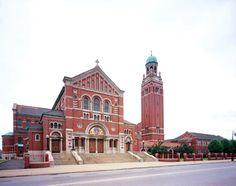Beautiful historic church in downtown Detroit