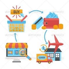 Buy Shopping Icons by macrovector on GraphicRiver. Online internet website shopping icons set of product search order payment electronic wallet and home delivery vector. Shop Icon, Icon Set, Powerpoint Tutorial, Vintage Design, Vinyl Designs, Shop Signs, Vector Pattern, Girls Shopping