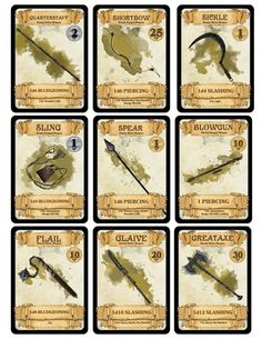 dm-paul-weber:                   Weapon Cards for...                                                                                                                                                                                 More