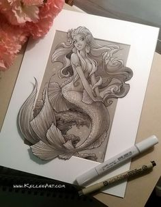 Sirena dibus en 2019 mermaid drawings, mermaid y mermaid art. Mermaid Drawings, Mermaid Tattoos, Mermaid Art, Mermaid Style, Mermaid Illustration, Illustration Art, Drawing Sketches, Art Drawings, Desenho Tattoo
