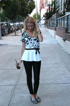 DIY - No sew peplum T-shirt