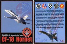 CF-18 Hornet National Demonstration Team 2004 - Trading Card