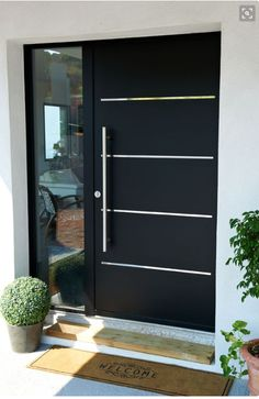 16 charming front door designs to choose from .- 16 charmante Haustür-Designs, die Ihnen bei Ihrer Auswahl helfen – Hauseingan… 16 charming front door designs to help you make your selection entrance - Contemporary Front Doors, Modern Front Door, Front Door Design, Front Entry, House Main Door Design, Modern Entryway, Garage Design, Main Entrance Door, Entrance Decor