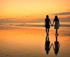 I would love to walk the beach with you as the sun sets...