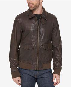 Men's Pigskin real leather jacket Genuine Leather Baseball jacket ...