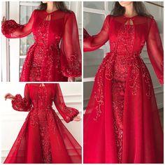Red Wedding Gowns, Fancy Wedding Dresses, Hijab Wedding Dresses, Evening Dresses For Weddings, Bridal Dresses, Prom Dresses, Frock Fashion, Fashion Dresses, Fairytale Bridal