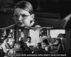 """Why are you unhappy?"" ""I fell in love with someone who didn't love me back."" Abigail Breslin + Steve Carell + Little Miss Sunshine + Quotes + Love Sad Movie Quotes, Sad Movies, Film Quotes, Indie Movies, Watch Movies, Sunshine Quotes, Plus Belle Citation, Little Miss Sunshine, Movie Lines"