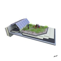 Anerdgy AG develops revolutionary building technology and infrastructure products, which combine attractive design options and integrated building functions with local renewable energy generation. Roof Edge, Flat Roof, Office, Renewable Energy, Multifunctional, Industrial, Design, Architecture