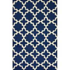 "Handmade wool rug with an eight-point star motif.  Product: RugConstruction Material: 100% WoolColor... $540.00 for 8'4"" by 11'"