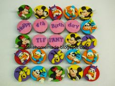 Jcakehomemade: Mickey Mouse Clubhouse cupcakes December 11, The 5th Of November, Abc Kids Tv, Postman Pat, Happy 4th Birthday, Candy House, Food Gallery, Daisy Duck, Mickey Mouse Clubhouse