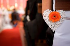 heart pew ends wedding, cute, with different flowers