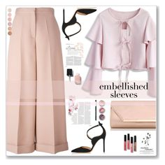 """""""Embellished Sleeves"""" by cowseatchard ❤ liked on Polyvore featuring Chicwish, Valentino, Gianvito Rossi, Chanel, Dorothy Perkins, Bare Escentuals, Bergdorf Goodman and Deborah Lippmann"""