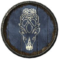 Anyone else collect guard shields? Skyrim, Viking Shield Design, Arte Viking, Medieval Tattoo, Old Paintings, Elder Scrolls, Horse Head, Wood Carving, Fantasy