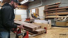 How to Make an End Grain Butcher Block: 13 Steps (with Pictures) Butcher Block Top, Butcher Block Countertops, Rough Cut Lumber, Table Saw, Router Bits, Woodworking Projects Diy, Grains, Cutting Boards, Korn