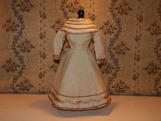 Antique doll dress for 16 inch French Fashion