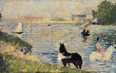 Horses in the Water - (Georges Pierre Seurat)