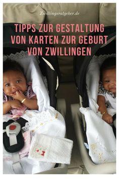 """Zwillinge bereichern eure Familie? Hier findet ihr ein paar gute Ideen für die Gestaltung der Karten um eure Verwandten und Freunde über die wunderbare Nachricht """"Zwillinge geboren"""" - zu informieren."""
