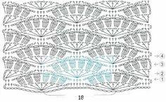 Crochet Bobbled Fan