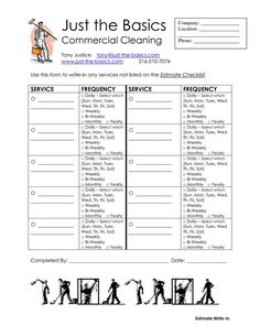 Commercial Cleaning Templates Collecting Data With The