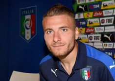Ciro Immobile of Italy speaks with the media during a press conference at Casa Azzurri on June 29, 2016 in Montpellier, France.