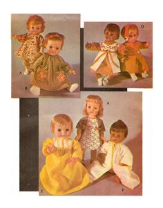 Doll Clothing PATTERN for Little Huggums Baby Dear Snuggle Softee Angel baby Baby Smile n Frown Baby Face April Showers quality PHOTOCOPY by BlondiesSpot on Etsy