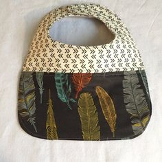 baby bib for the modern baby in funky feathers by FunkyBabyShop