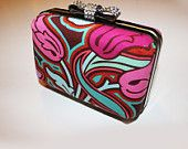 Small Bow Clutch - Floral Design