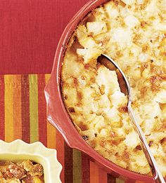 This potato side dish casserole has a rich creamy sauce. Try it at the holidays instead of mashed potatoes.