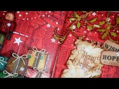 ▶ Art Journal page : Merry Christmas - YouTube. I love Vicky! She does some of the most wonderful art journaling. I am so doing this now!