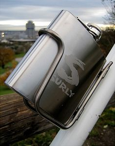 Who needs a water bottle holder when you can have a flask holder! #getidea
