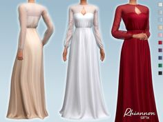 Bridesmaid Dresses, Prom Dresses, Wedding Dresses, Sims Medieval, Laura Dresses, Sims 4 Clothing, Female Clothing, Sims 4 Characters, Sims 4 Dresses