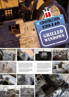 Secret Diary, Main Entrance, Construction Materials, Medieval, Grilling, Miniatures, Windows, Stone, Projects
