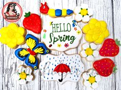 Spring themed 'Baker's Dozen'   Mutherfudger Buy now until 3rd June. Minimum 13 homemade sugar cookies, hand decorated with royal icing. Perfect as a gift for friends or family. Customisable text. UK Delivery only. £24.99 + P&P