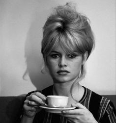 Brigitte Bardot and a cup of tea! My favourite girl ❤️❤️❤️