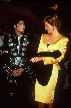 """Michael Jackson and Princess Diana ~ """"she use to call me in the middle of the night. It was morning for her but I didn't care""""...I wonder what they talked about?"""