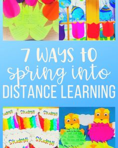 Read more about distance learning spring activities. Here are 7 ways to integrate art with purposeful writing or math lessons perfect for homeschooling. Kindergarten Goal Sheet, Kindergarten Graduation Songs, Word Wall Kindergarten, Spring Activities, Learning Activities, Portable Word Walls, Goals Sheet, Teacher Appreciation Gifts, Math Lessons