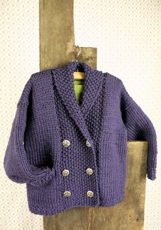 Free Knitting Pattern - Toddler & Children's Clothes: Eucla Toddler Jacket