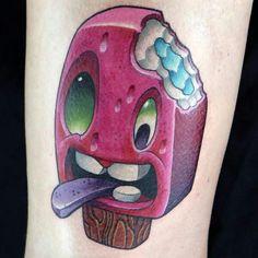 Tattoo popsicle, polo, helados, picole
