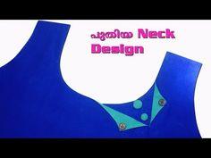 Neck design Stitching in malayalam/Churidar neck malayalam Churidar Neck Designs, Kurta Neck Design, Kurta Designs Women, Salwar Designs, Chudi Neck Designs, Blouse Neck Designs, Sleeve Designs, Kurti Patterns, Kurti Designs Party Wear