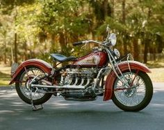 1935 Indian 4 cylinder motorcycle by bernice