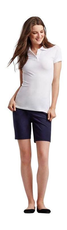 Aeropostale Women's Solid Uniform Piqu Polo Shirt L Bleach at Amazon Women's Clothing store: