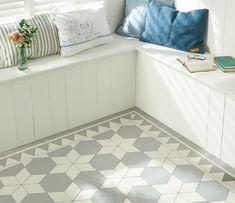 carrelage-hexagonal-Tex-mosaique-motifs-étoiles-gris-blanc