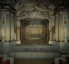 Gripsholm Theater Stage  at Gripsholm Castle, near Stockholm