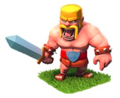 The Barbarian is a male kilt-clad Scottish warrior with an angry, battle-ready expression, hungry for destruction. He has close-cropped blonde hair and a long, yellow horseshoe mustache. The Barbarian is the first troop unlocked in the Barracks. Clash Of Clans Android, Clash Of Clans Game, Clash Clans, Clash Of Clash, Barbarian King, Clash Games, Boom Beach, Scottish Warrior, Viking Helmet